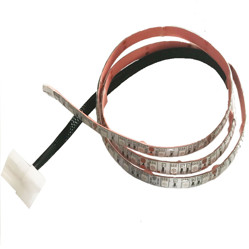 60cm 18 LED 5050 SMD PC Computer Case Waterproof Flexible Strip Tape Light DC12V Red Blue Green White Molex 4Pin Power Supply