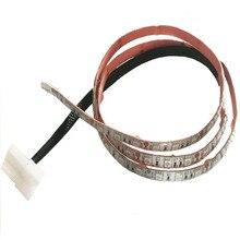 цена на 2pcs 50cm 30leds Light Strip 5050 SMD PC Computer Case Waterproof Flexible LED Tape DC12V Red Blue Green Molex 4Pin Power Supply