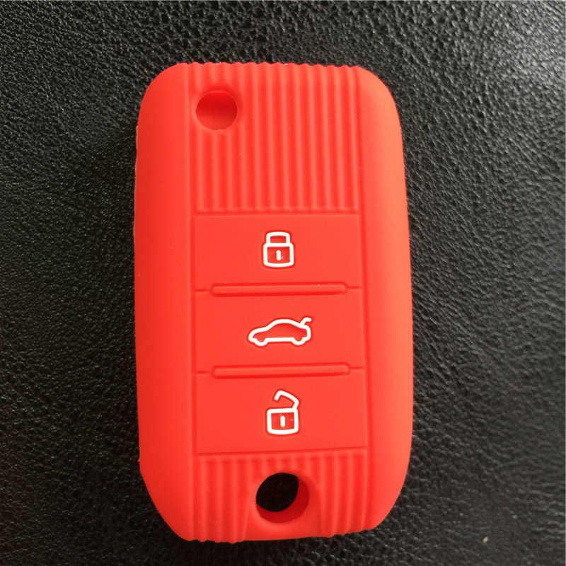 4色シリコーンゴム車キーカバーケース用栄威rx5 2017年用mg zs 3ボタンキーケースカバー