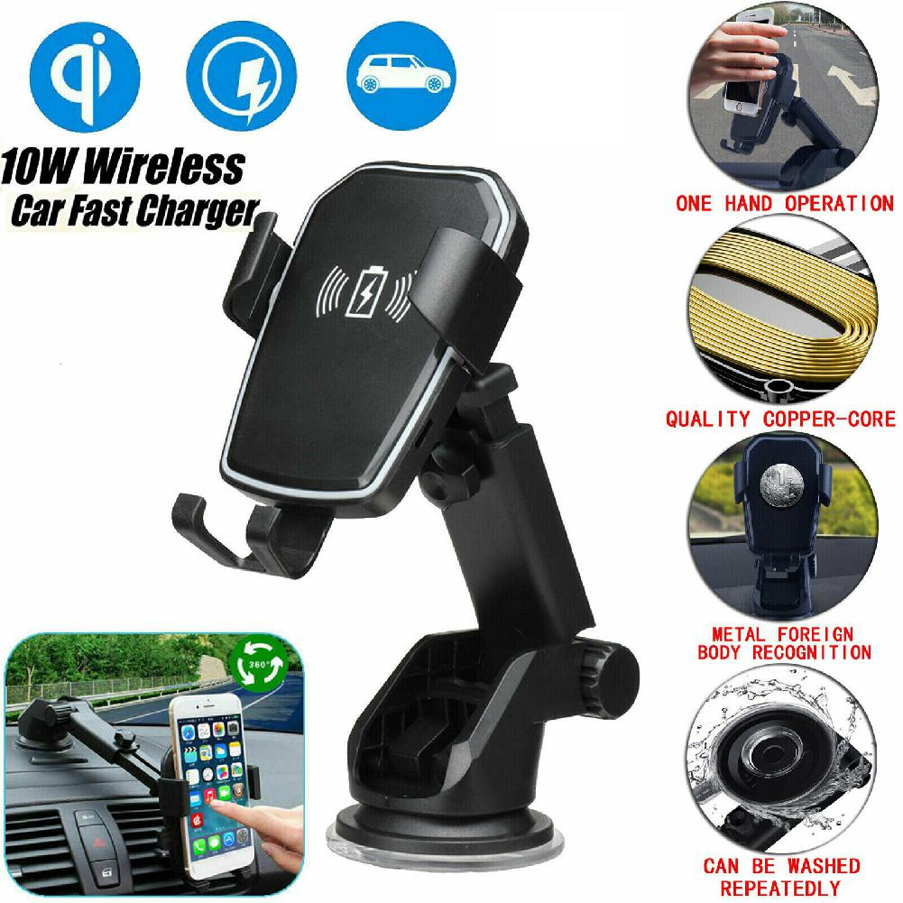 Group Vertical Vertical Qi Wireless Fast Charging Car Charger Mount Holder Stand 2 in 1 for Cell Phone r20