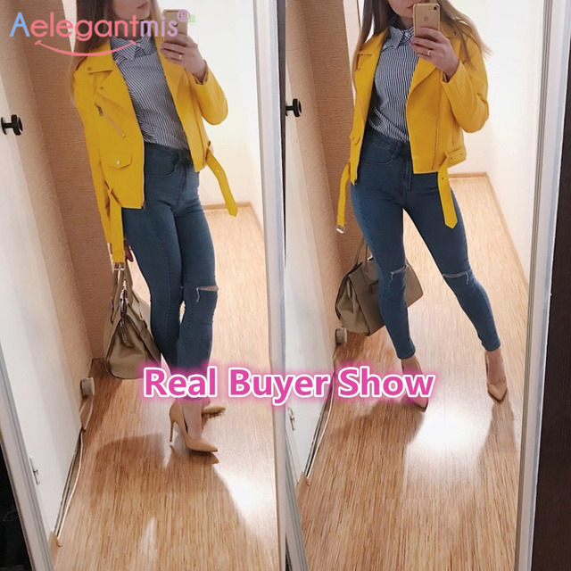 Autumn New Short Faux Soft Leather Jacket Women 2