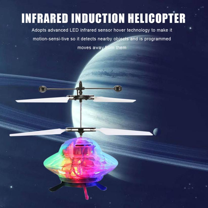 Mooistar2 #4066D Hand Flying UFO Ball LED Mini Induction Suspension RC Aircraft Flying Toy Drone