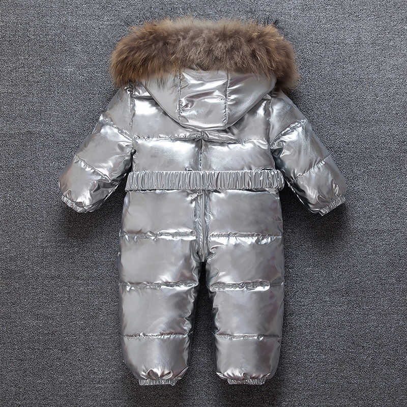 fa9687f48 Detail Feedback Questions about Silver baby winter Jumpsuit Romper ...
