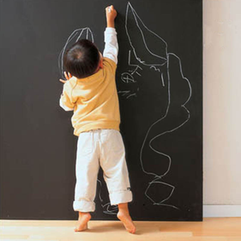 1pcs Wall Sticker Creative Chalkboard Sticker Removable Blackboard Wall Stickers for Kids Rooms Home Decor With Regular Chalks stylish diy purple mangnolia and letters pattern wall stickers for home decor