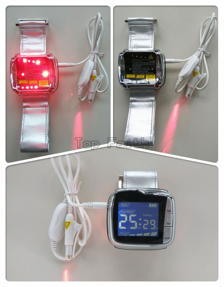 11 diodes Wrist Laser therapy LLLT Physiotherapy diabetes soft cold laser acupuncture no pain high blood fat hypertension