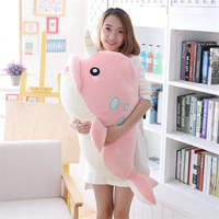 95cm Plush Toy Pillow Appease Big Size Funny Soft Cute Whale Cushion Gift Toys for children Playmate Marine Animals Stuffed Doll