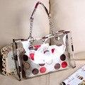 Transparent bag new spring and summer of 2015 han edition joker beach transparent jelly lash bag handbag shoulder bag
