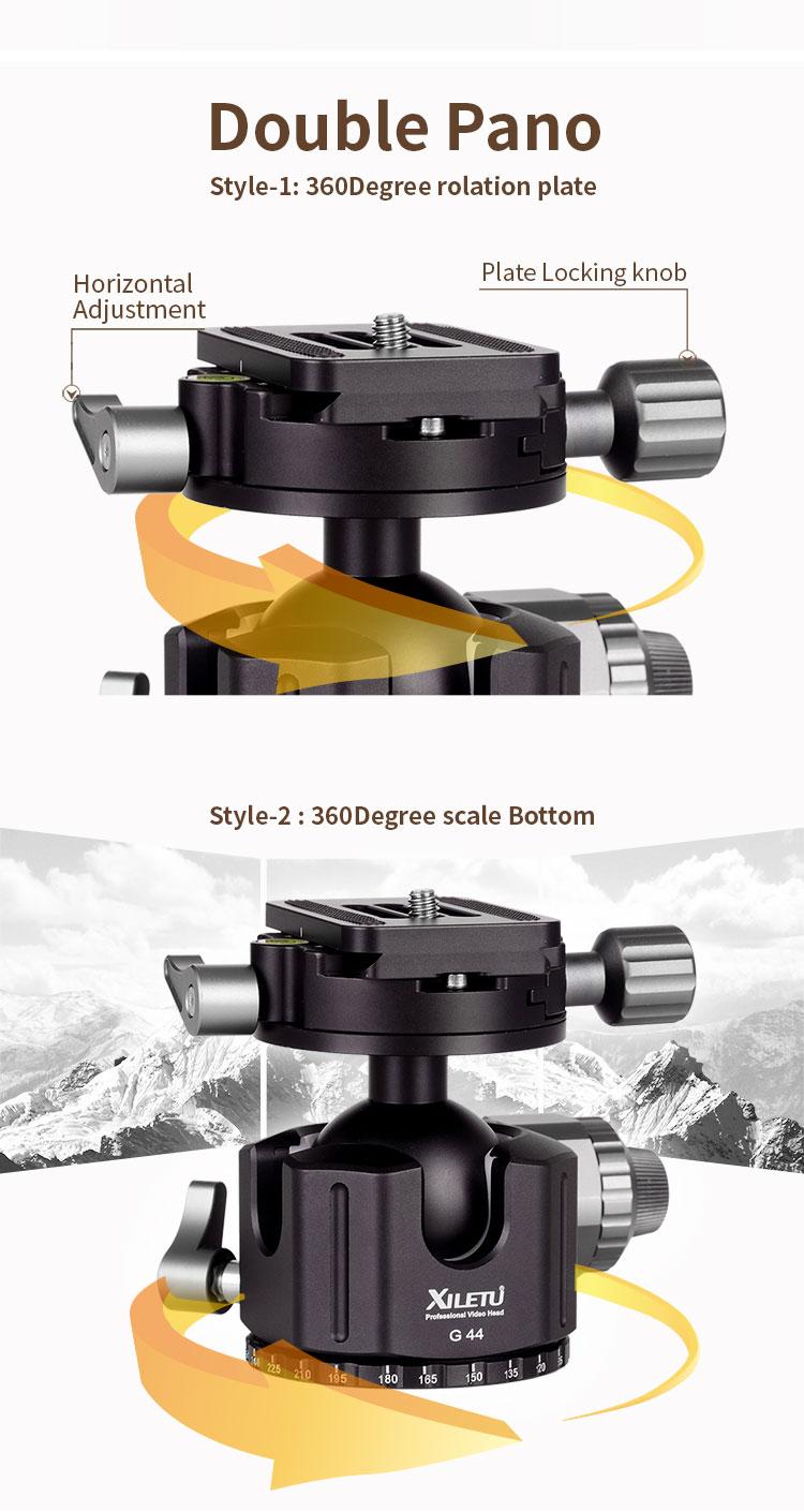 Xiletu G 44 câmera liga de alumínio