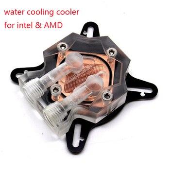 100% Nuova CPU Water Block raffreddamento ad acqua Radiatore di raffreddamento per intel & AMD computer con Backplane board e viti di montaggio YL817-2