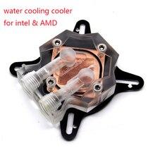 100% nowy procesor blok wody chłodzenie wodne chłodnica grzejnika dla intel i AMD komputer z płytą montażową i śruby mocujące YL817 2