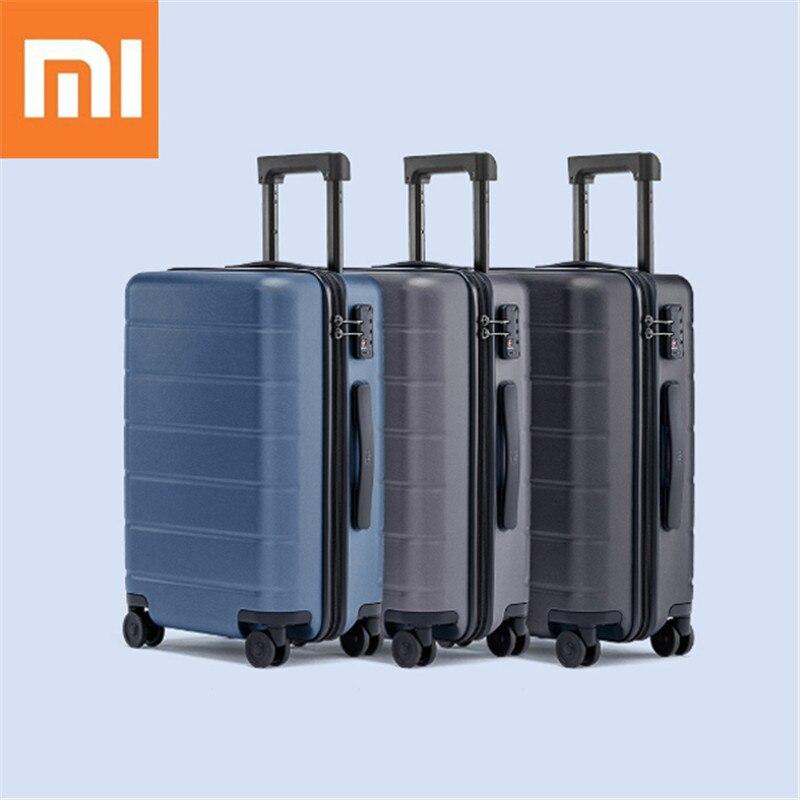 XIAOMI 90FUN 20 pouces valise pc continuer à roulettes bagages à roulettes TSA lock affaires voyage vacances pour femmes hommes