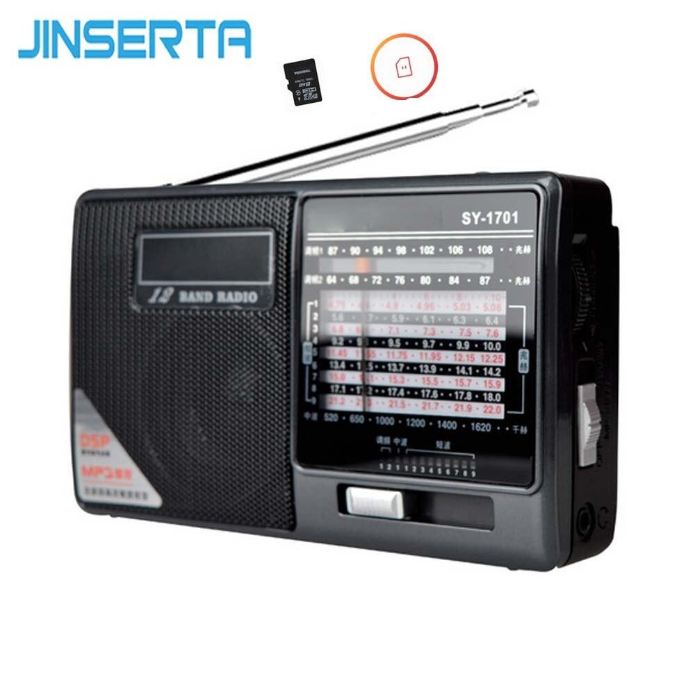 Jinserta Volle Band Radio Fm Stereo/am/sw Dsp Welt Band Empfänger Mp3 Player Mit Kopfhörer Jack Unterstützung Tf-karte Wiedergabe Unterhaltungselektronik Tragbares Audio & Video