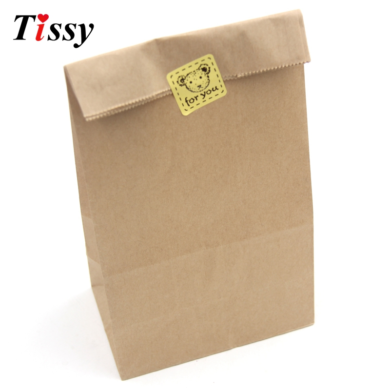 New!8pcs Brown Kraft Paper Bags Recyclable Jewelry Food Bread Shopping Bags Candy /Gifts Packaging Wedding Party Bag Supplies