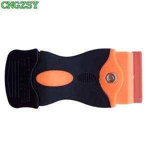 Image 2 - CNGZSY – grattoir à colle en céramique, nettoyeur de vitres, pelle à glace, Film autocollant, spatule détiquettes, outils de nettoyage de voiture K04