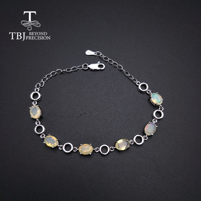 TBJ,Summer new style opal bracelet natural gemstone 925 sterling silver simple fine jewelry suitable girl party and daily wearTBJ,Summer new style opal bracelet natural gemstone 925 sterling silver simple fine jewelry suitable girl party and daily wear