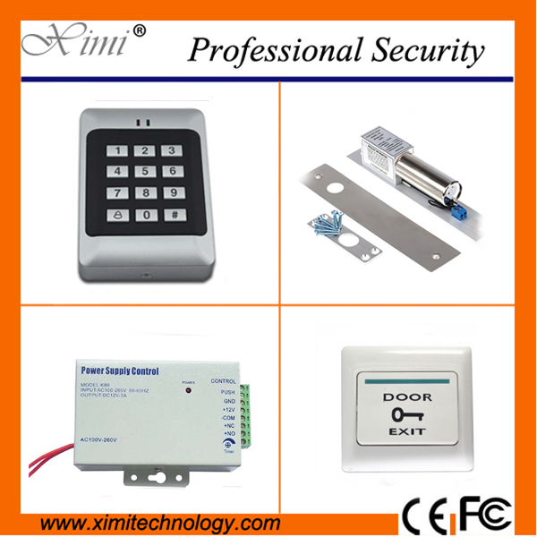 Good quality cheap free shipping with 180kg single electromagneic lock, switching power supply single RFID card access control good quality fingerprint access control with smart rfid card reader mini power supply and 600lbs magnetic lock
