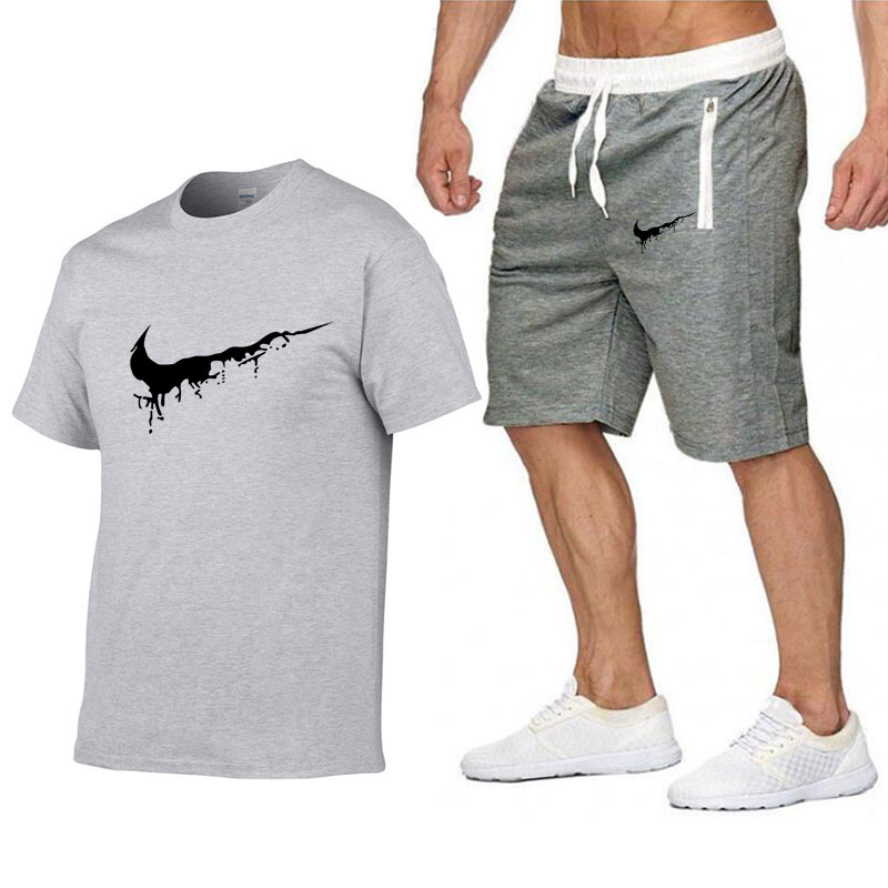f1ffa099 Quality Men's Sets T Shirts+shorts men Brand clothing Two piece suit  tracksuit Fashion Casual