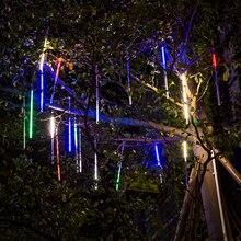 new year 20cm 30cm 50cm outdoor meteor shower rain 8 tubes led string lights for christmas wedding party home garden decoration - Meteor Christmas Lights