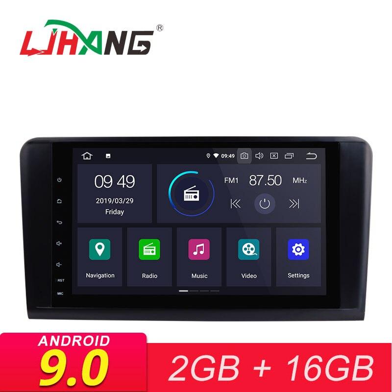 Autoradio LJHANG 9 pouces Android 9.0 GPS pour Mercedes Benz ML/GL classe W164 ML350 ML500 2 Din Wifi Audio stéréo FM IPS