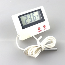 Electrical Digital Aquarium Thermometer Refrigerator Temperature Meter with1m Temp. Sensor