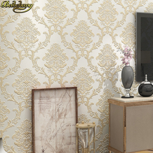 Europe Damascus nonwoven 3d wallpaper Damask wall coverings Embossed textured wall paper for bedroom sitting room background modern luxury gold metallic wallpaper vinyl textured damask purple wall paper roll wall coverings for bedroom living room 10m