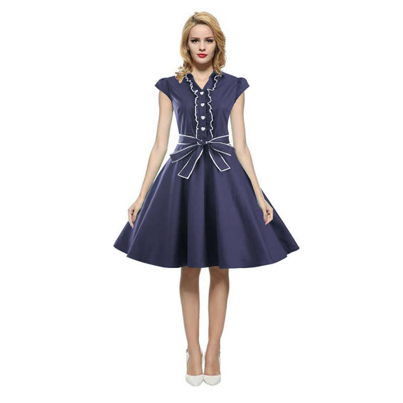 48a401ec015 Detail Feedback Questions about Retro Style Women s Fashion Summer V neck  Sexy Party Dress Classy Vintage 1940 s Rockabilly Dress on Aliexpress.com  ...
