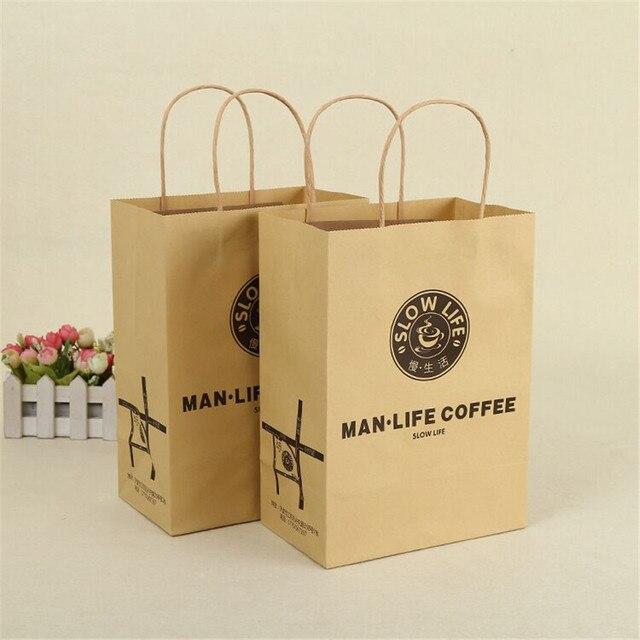 453f1f623ec Wholesale 500pcs lot custom printing logo boutique kraft eco paper shopping  bags clothes