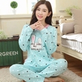 Pijamas más tamaño del busto más tamaño ropa de dormir de gran tamaño ropa de Dormir Pijamas de Invierno de Las Mujeres de Pijama de las Mujeres Pijamas de Algodón