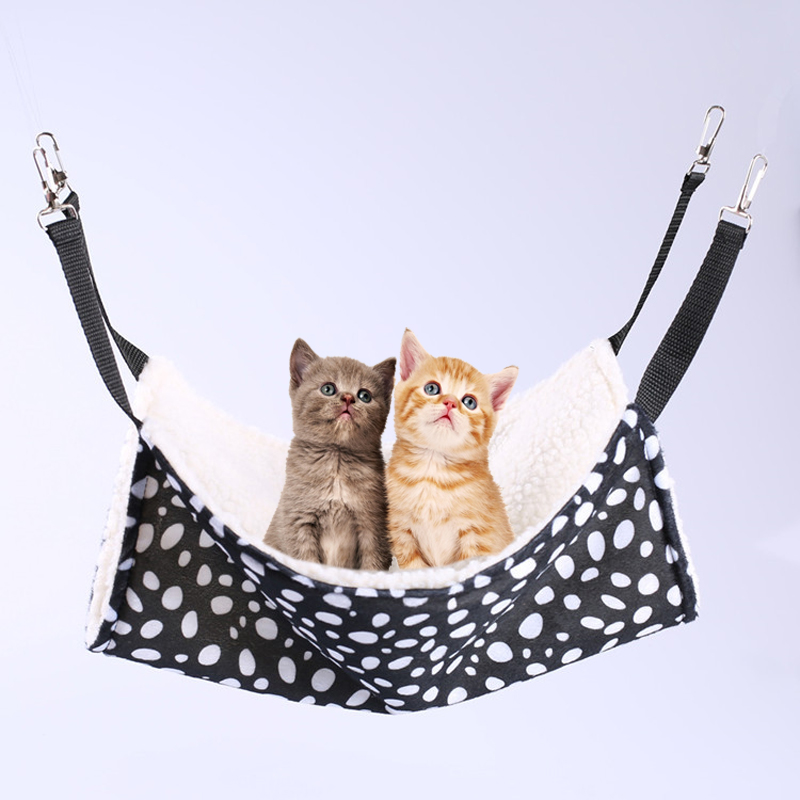 Warm Hanging Cat Bed Mat Pet Kitten Cage Bed Soft Cat Hammock Cover Cushion For Puppy Pet Kitten Cage Bed Pet Supplies 4 Colors