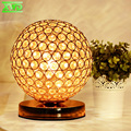 Modern Desktop Decoration Crystal Table Lamp E27 Lamp Holder 110-240V Parlor/Bed Room/Bedside Cabinet Lighting Free Shipping