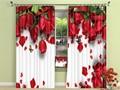 Роскошные затемняющие 3d-шторы с красной розой для гостиной  спальни  шторы для девочек