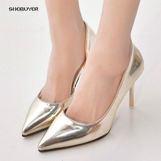 6d719908ca 2017 Mulheres primavera capa Sapatos de Salto Alto Elegante Fina Alta saltos  Do Dedo Do Pé