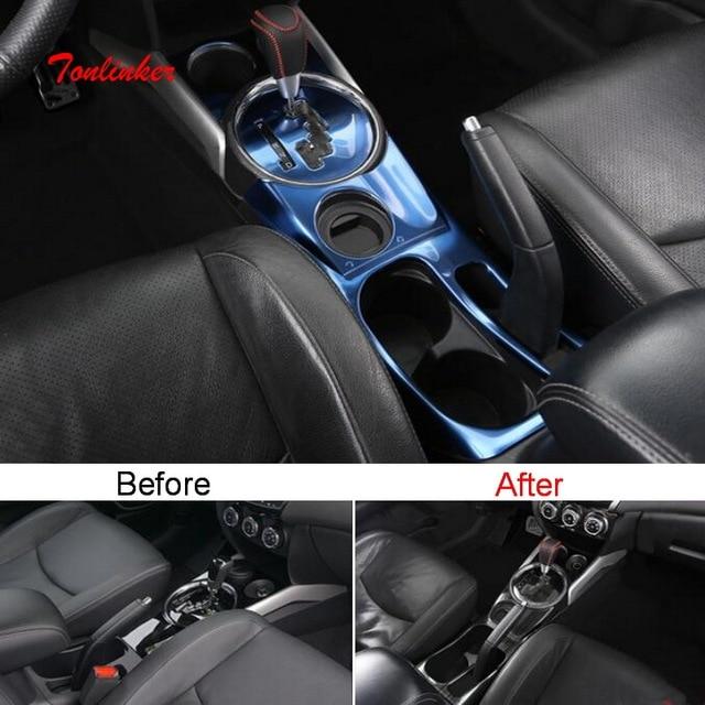 Tonlinker Intérieur Voiture Couvercle De Console centrale Autocollants pour Mitsubishi ASX 2013-18 Voiture style 1 pièces En Acier Inoxydable autocollants de Couverture