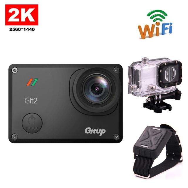 Frete grátis!! Original 16 M Ultra 2 K Gitup Git2 Mini Sports Action Camera Bicicleta Capacete Filmadora DV + Pulso de Controle Remoto