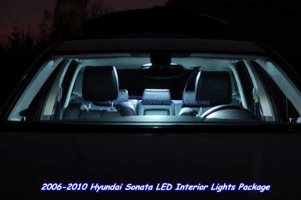 car parking led interior lights kit white for 2006 2010 hyundai sonata light source 5450 map. Black Bedroom Furniture Sets. Home Design Ideas