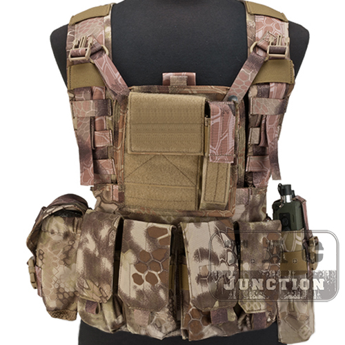 Emerson Tactical MOLLE RRV Rhodesian Recon Vest Chest Rig Plate Carrier w// Pouch