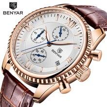 Relogio Masculino BENYAR Mens Watches Top Brand Luxury Waterproof Military Chronograph Sport Quartz Wrist Watch Clock Men Saat
