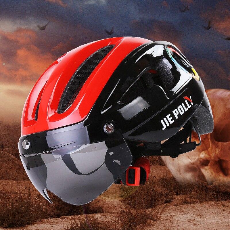 Vélo casque de Vélo lunettes de vélo de montagne d'une seule pièce casque d'équitation vélo de route lentille de protection vtt casque casco triathlon casque