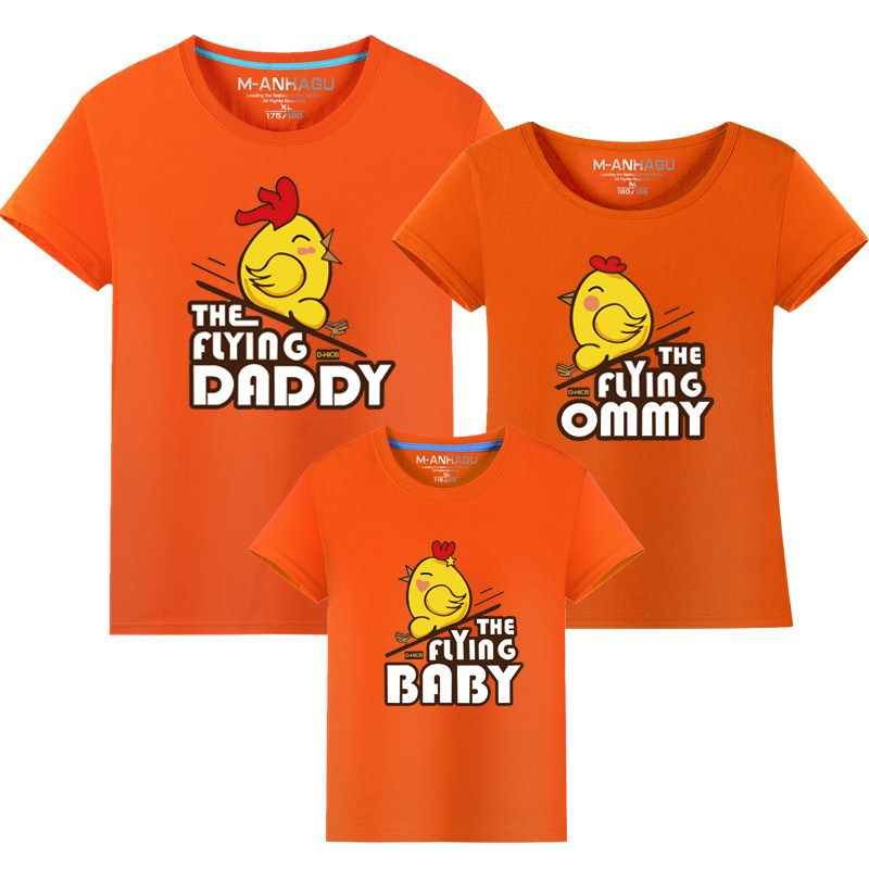 Family Matching Clothes 2017 Summer style Short-sleeve Birds T-shirt - Children's Clothing - Photo 4