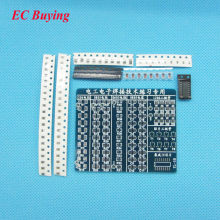 SMT SMD Component Welding Practice Board Soldering Practice DIY Kit 65x53mm DIY Parts Kits for Self-Assembly(China)