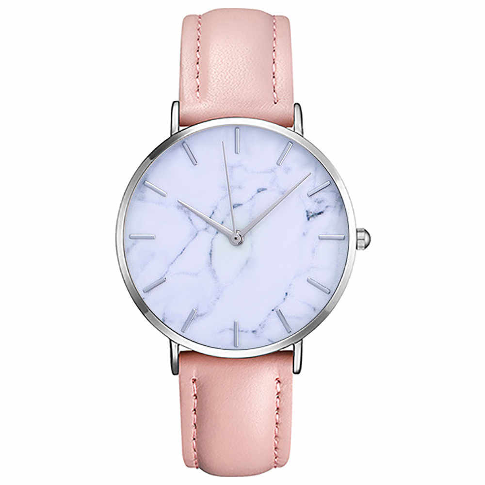 Top Brand Marble Style PU Leather Quartz Women Watch Clocks Fashion Men Watches Casual Sport Wrist Watch Hot Sale Lovers Relojes