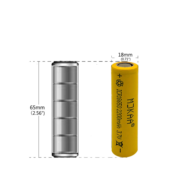 1pcs 2200mAh 18650 Rechargeable Battery High Power 18650 Li ion Lithium Rechargeable Battery for 3 7V ICR18650 in Rechargeable Batteries from Consumer Electronics