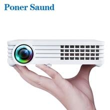 Poner Saund DLP900 WI-FI затвора 3D ручной Портативный мини-проектор дополнительно Android Bluetooth WI-FI домашнего кинотеатра Поддержка HD1080P