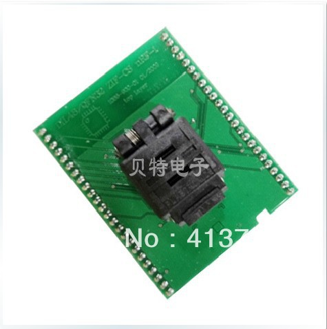 IC test socket adapter convert DIL48/QFN32 ZIF-CS NRF-1 burn original plcc44 to dip40 block adapter block cnv plcc mpu51 test convert burn