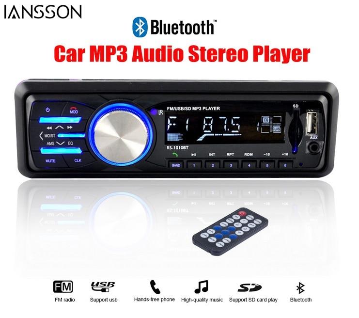 2016 Car Audio Player Car Radio Stereo Bluetooth Car Stereo Audios In-dash 12V FM USB SD 1 Din Auto Radios Aux In Instead DVD