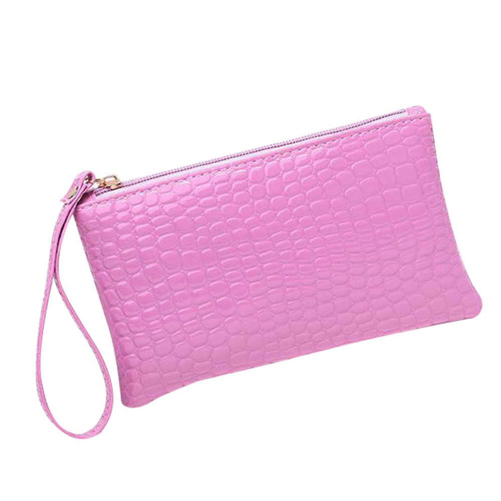 2020 Dompet Koin Dompet Kartu Pemegang Wanita Dompet Tas Genggam Wanita Square Zipper Kulit Warna Solid Kartu Kredit Paket Kasus