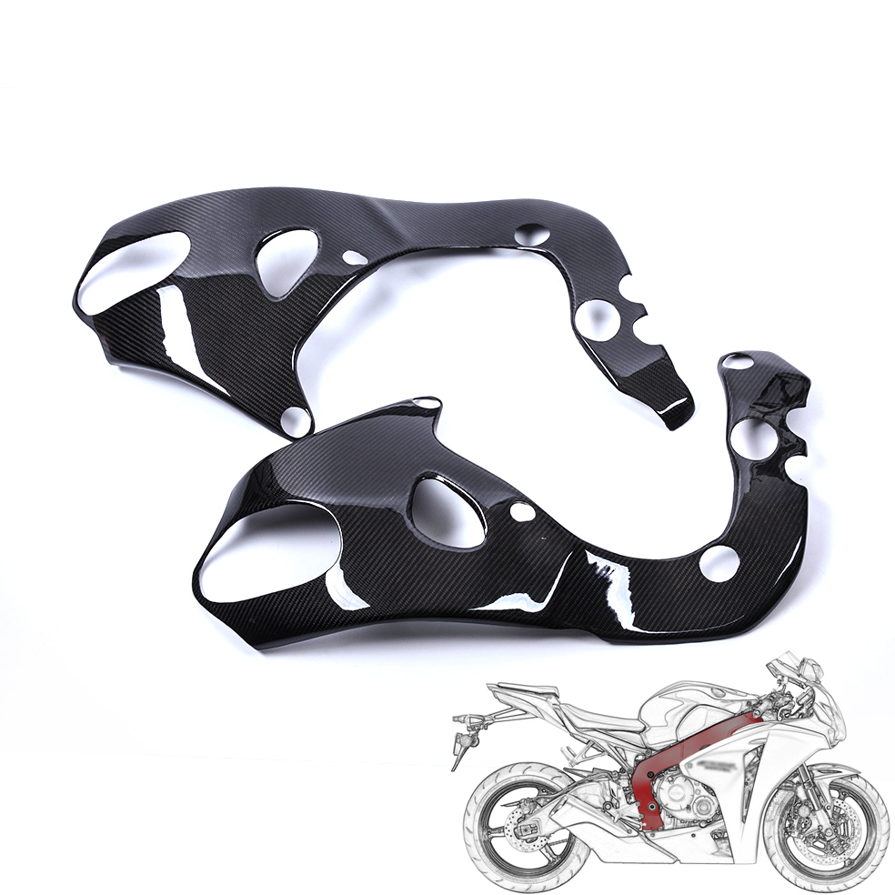 For HONDA CBR 1000RR 2008 2016 Carbon Fiber Frame Covers Protectors Guards twill glossy finish
