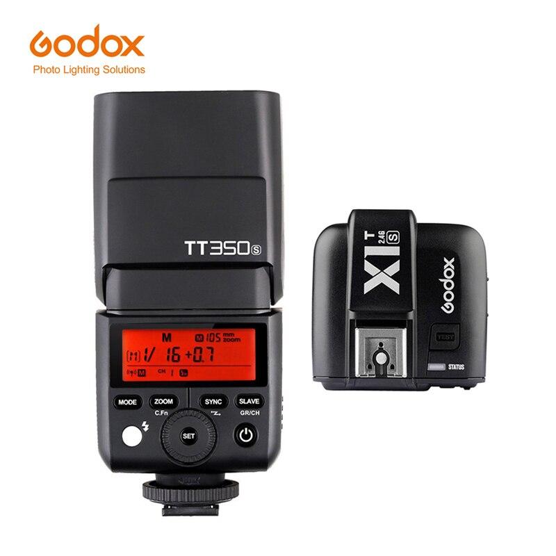 Godox TT350S 2.4g 1/8000 s TTL GN36 Senza Fili Speedlite Flash Light per la Macchina Fotografica Sony A7 A7R A7S a7 II A7R II A7S II A6500 A6000