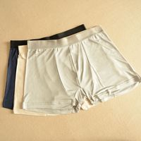 Simple Design Men S Panties High Grade Pure Silk Underwear Knitted Silk Shorts Silk Men Boxer