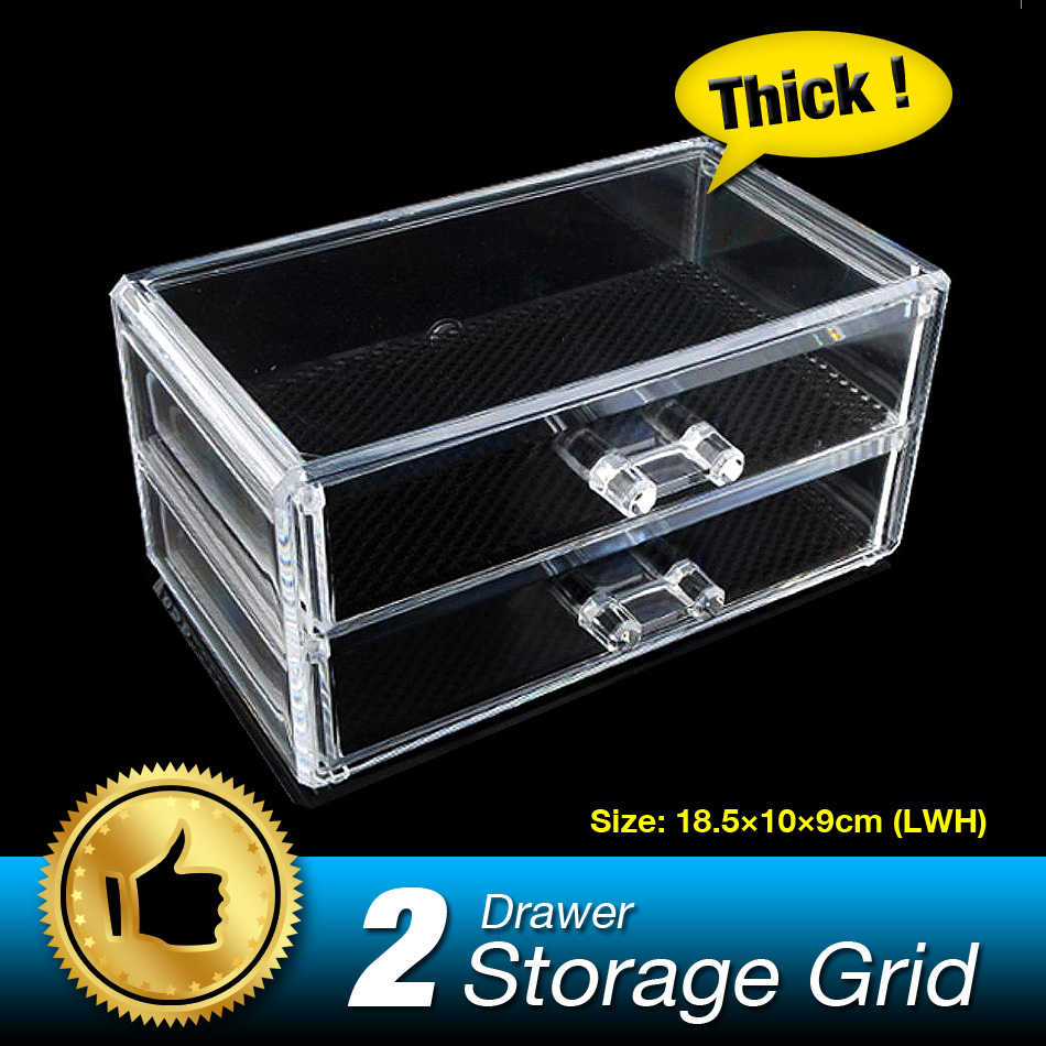 Clear Storage Box Acrylic Makeup Organizer Cosmetic Organizer Make Up Organizador Jewelry Box Organizer